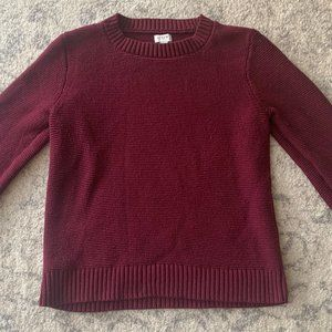 J. Crew Factory Textured Pullover Sweater (maroon)